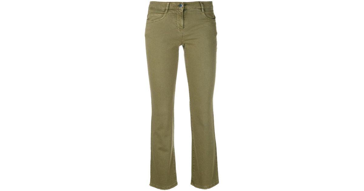 cropped flared jeans - Green Incotex Vpb8lDswyw