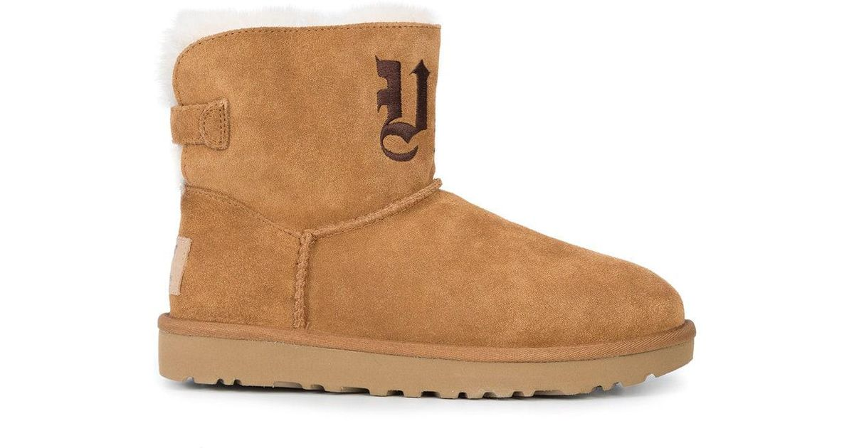 4408ade13a77 Lyst - Jeremy Scott UGG X Ugg Life Embroidered Mini Boots in Brown