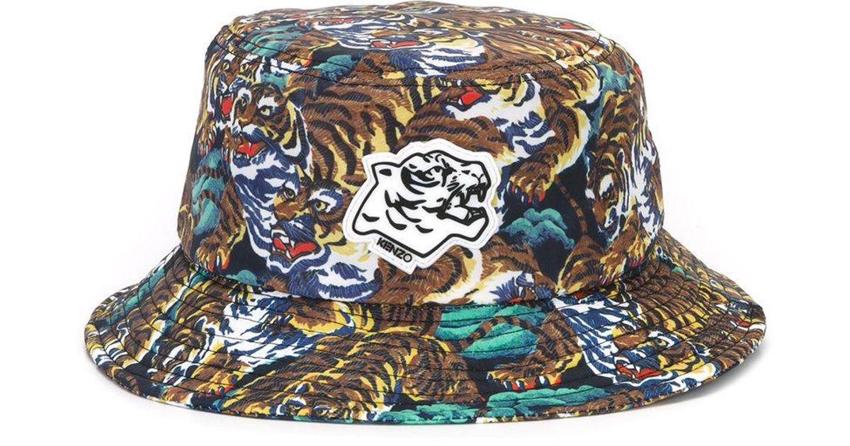 Lyst - KENZO Flying Tiger Bucket Hat for Men 5df3e22ae53