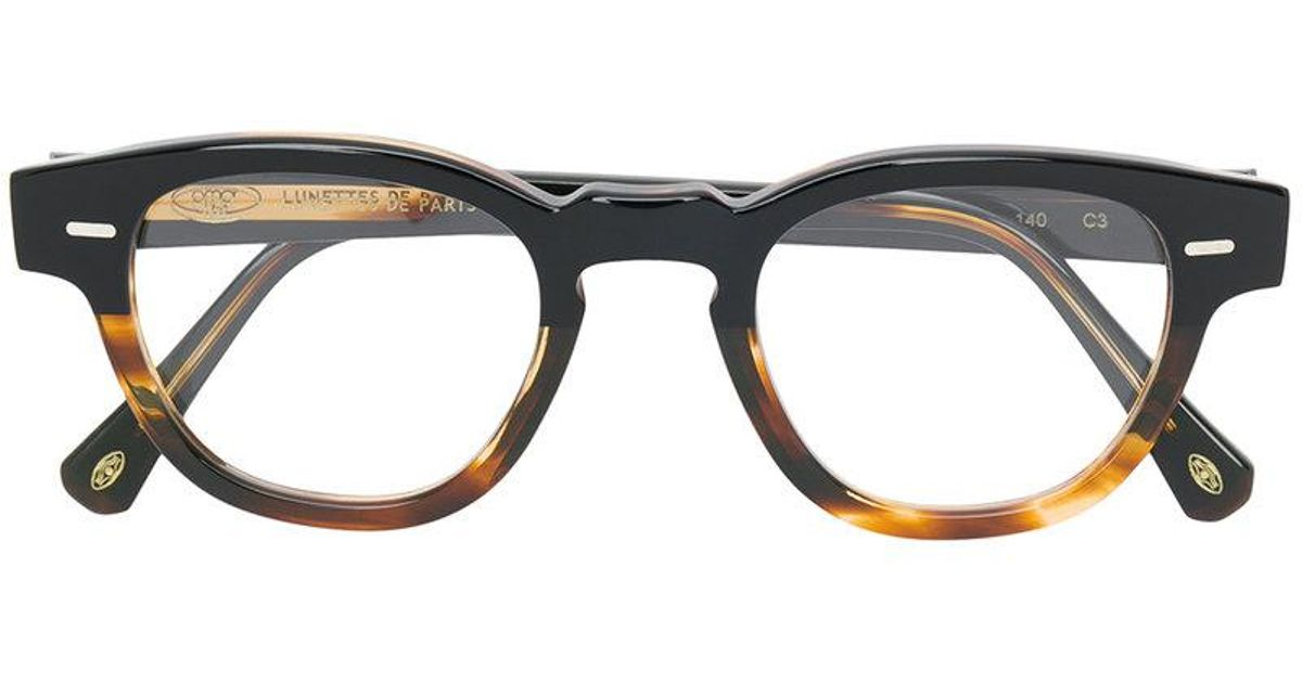 9f874ce0a3cd Lyst - Sol Amor Rectangle Frame Glasses in Brown