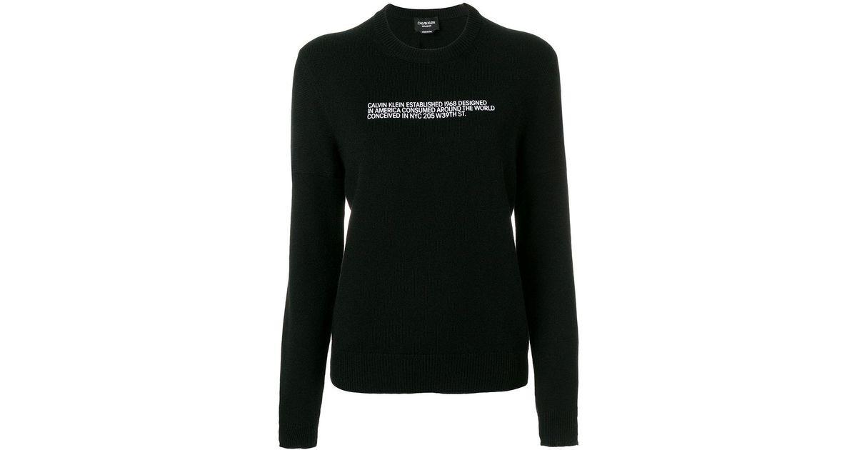 cashmere slogan jumper - Black CALVIN KLEIN 205W39NYC Cheap Genuine 50r7Y2