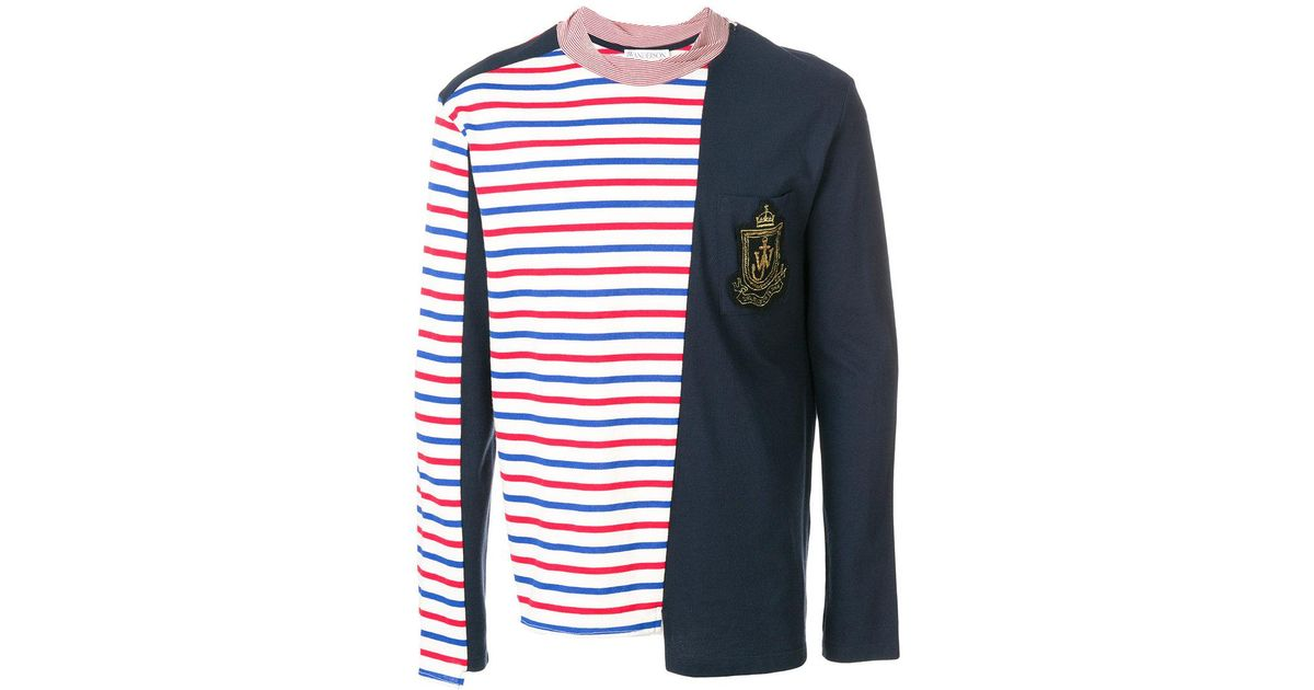 For Sale Cheap Authentic Breton panelled T-shirt - Red J.W.Anderson Outlet Footlocker Finishline Sale Choice Sale 100% Guaranteed FM4q4