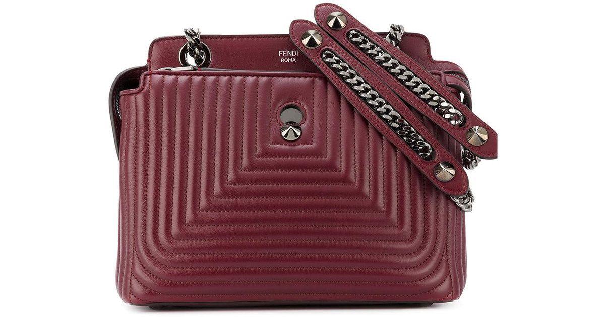 f40246ead2c Lyst - Fendi Quilted Dotcom Click Shoulder Bag