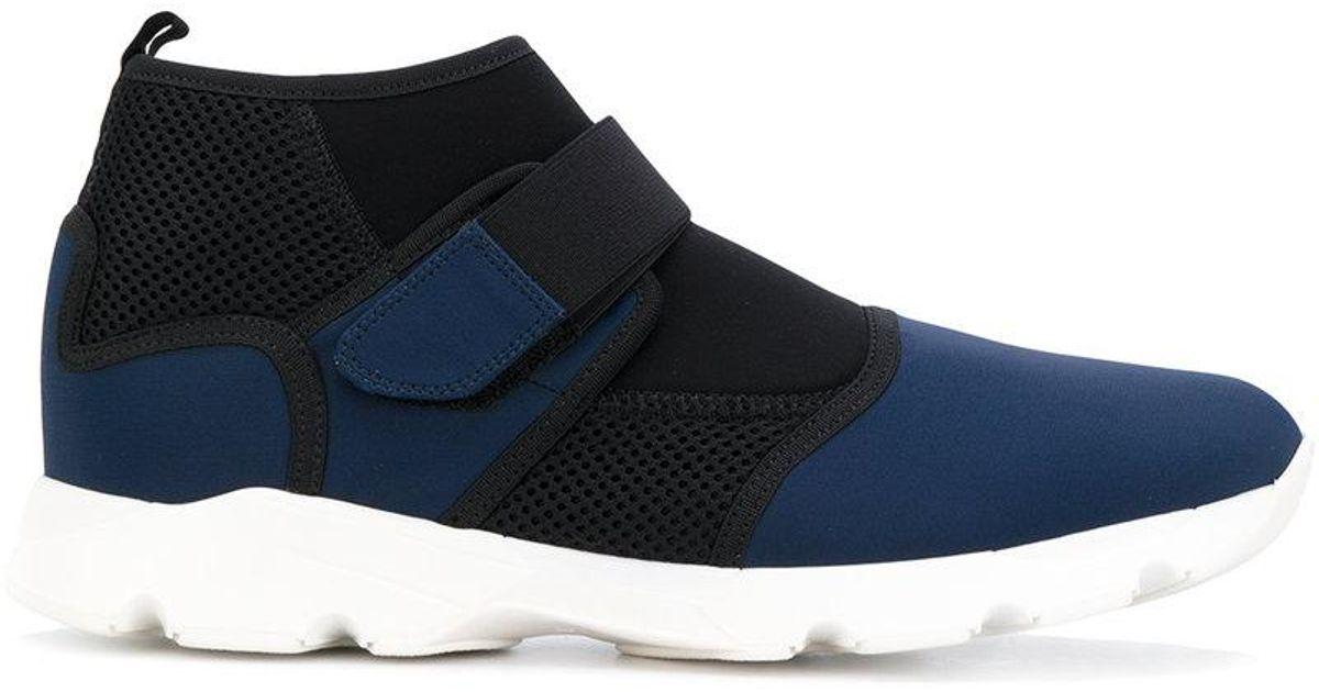 Chaussures De Sport En Tissu Technique Marni - Bleu dRqBBNLX