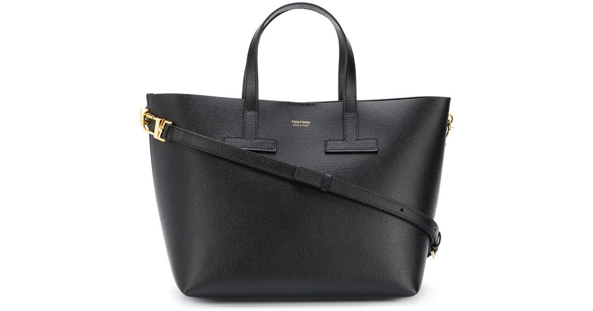 906b3740e3f2f Lyst - Tom Ford Small T Tote Bag in Black