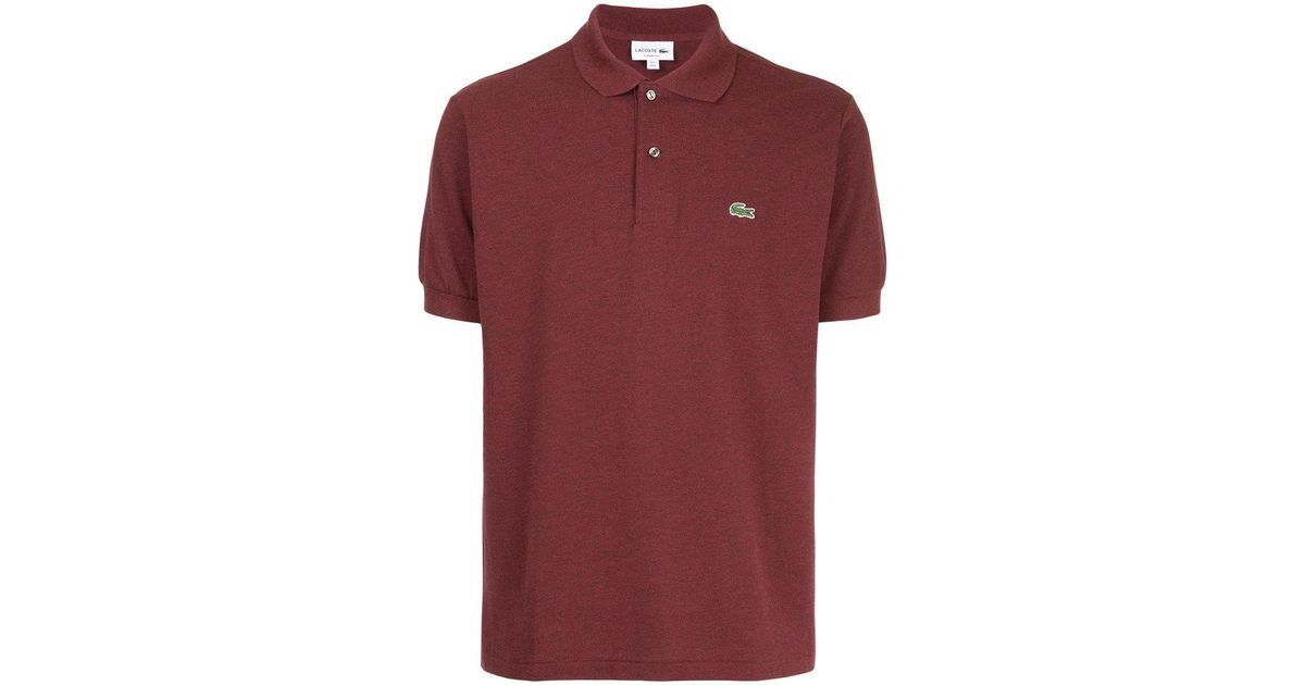 24ab4c777 Lyst - Lacoste Logo Patch Polo Shirt in Red for Men