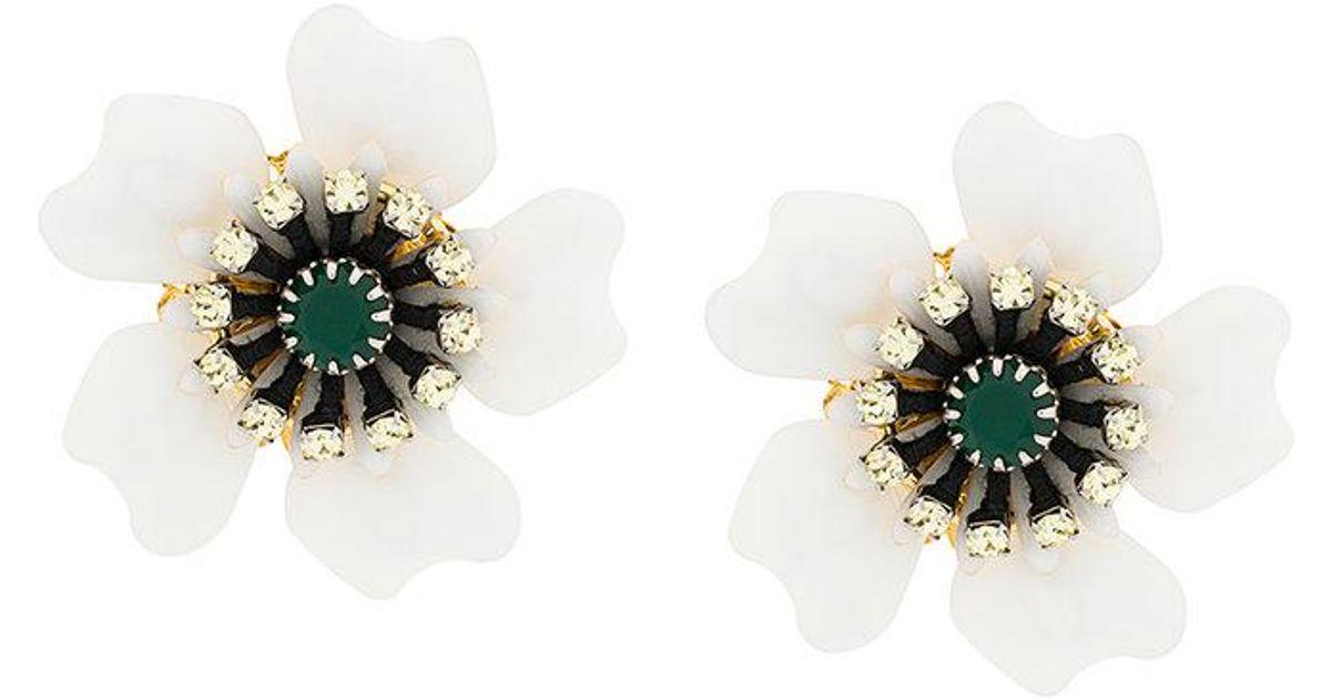 Rada floral stud earrings - White SwQrbIUeUZ