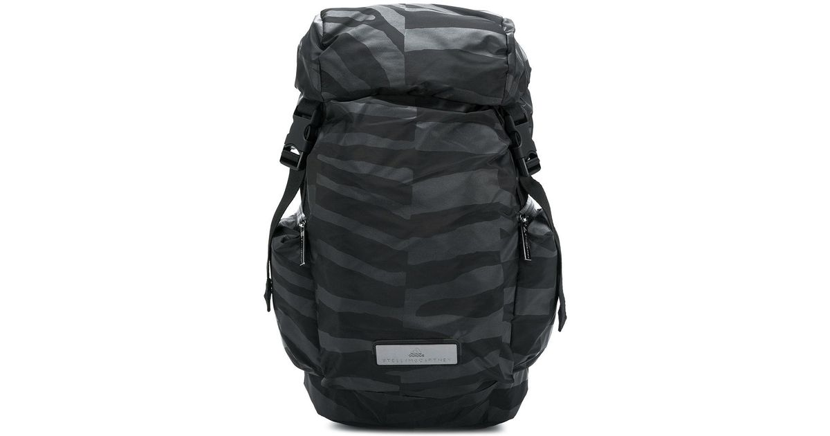 34f43973a595 Lyst - adidas By Stella McCartney Uneven Stripe Bucket Backpack in Black  for Men