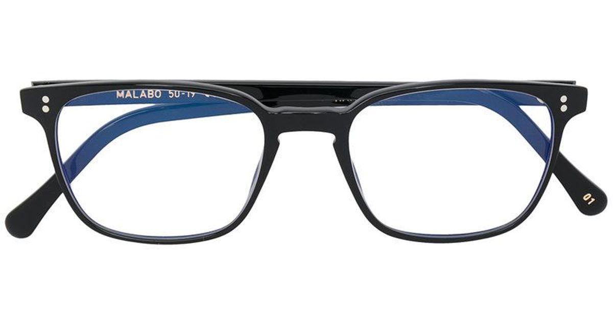 Lyst - Lgr Rectangle Frame Glasses in Black for Men