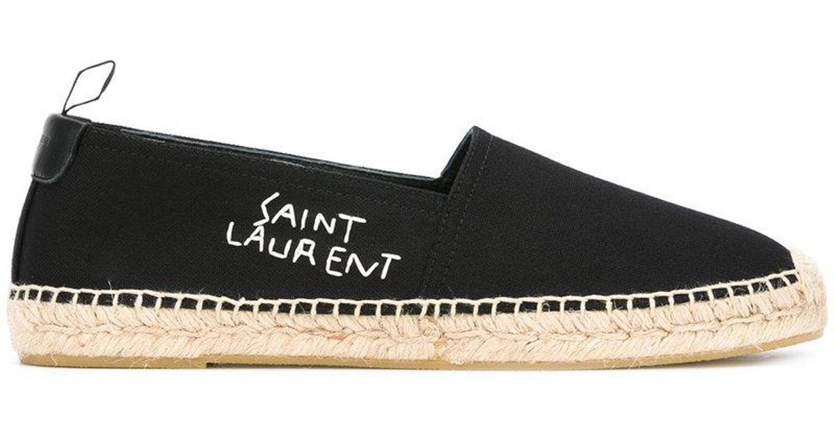 cbf18811083 Saint Laurent Monogram Espadrilles In Lambskin in Black for Men - Save 40%  - Lyst