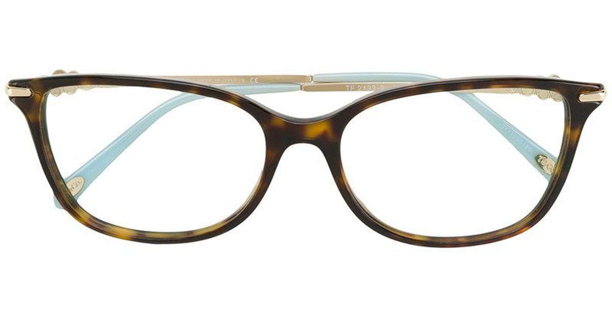 fe965a956f2f0b Lyst - Lunettes à monture carrée Tiffany   Co. en coloris Marron