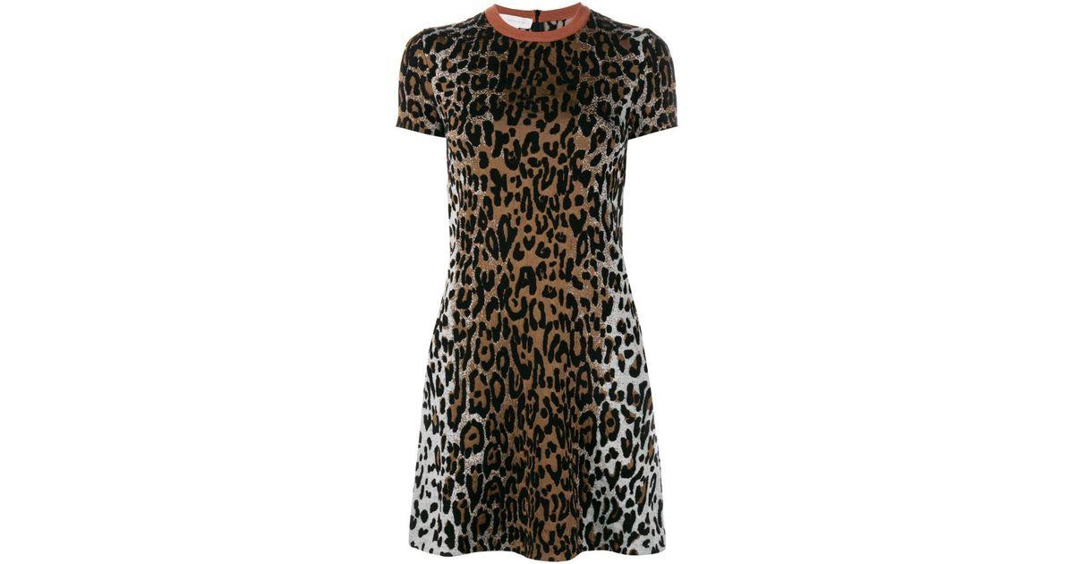 cheetah print jacquard dress - Black Stella McCartney pKY18