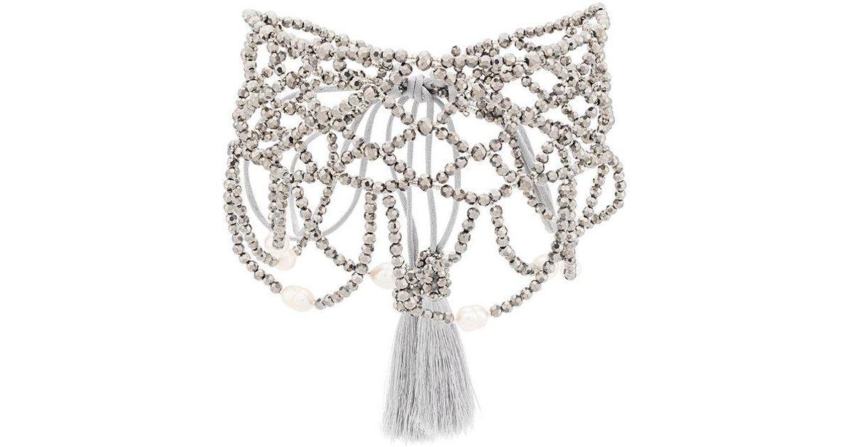 Night Market choker necklace - Metallic eXThaI38