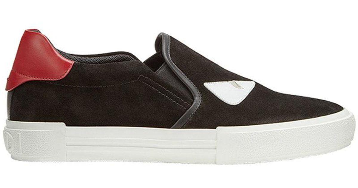Lyst - Chaussures de skate à appliqués Bag Bugs Fendi pour homme en coloris  Noir 9c670262f47