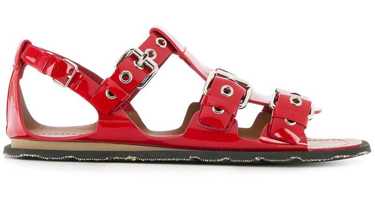 buckled multi-strap sandals - Red Miu Miu Mm6mS