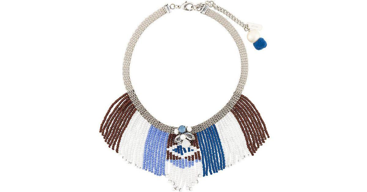 7410a87461ac Lyst - Collar corto con cuentas Rada  de color Azul