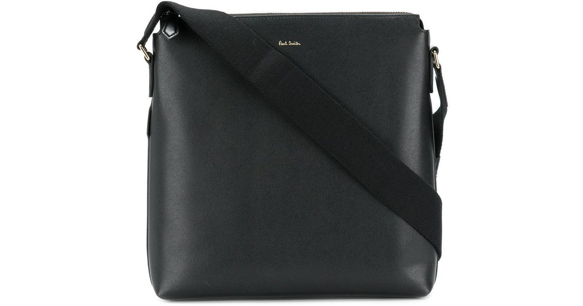 Lyst - Paul Smith Logo Stamp Messenger Bag in Black for Men 498f1366bd11d