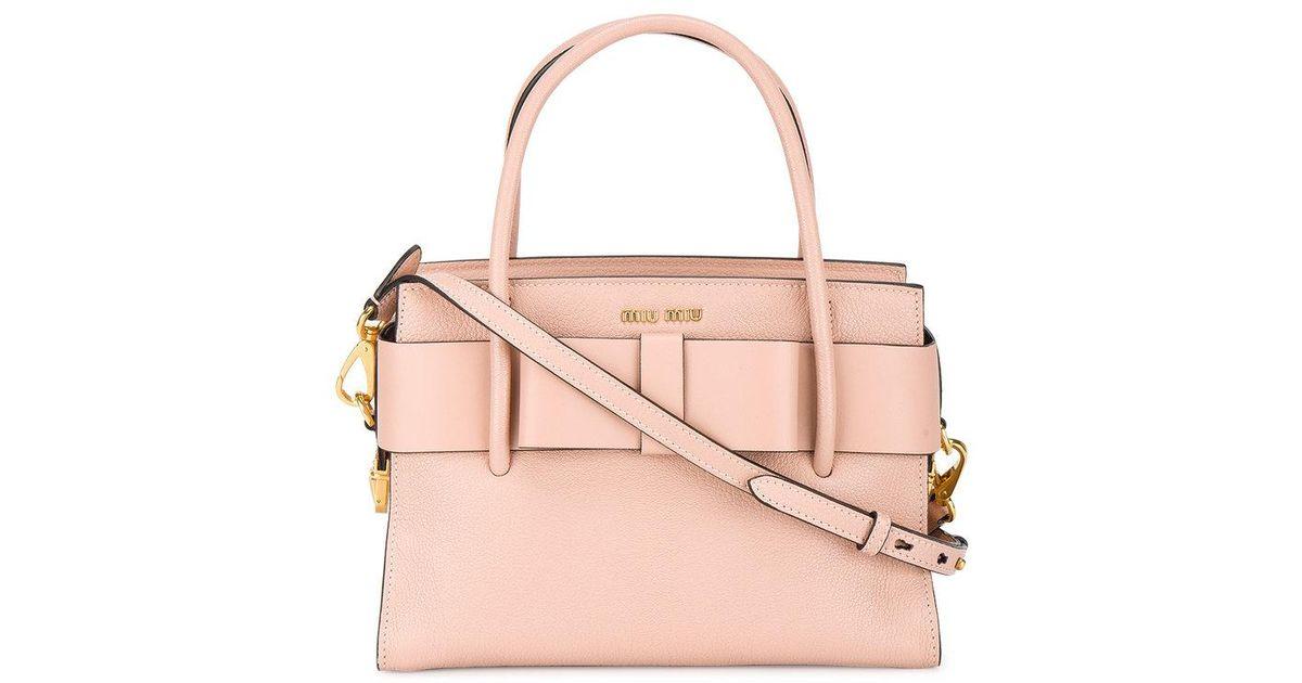 746ee26e3e03 Lyst - Miu Miu Borsa A Spalla  madras  in Pink