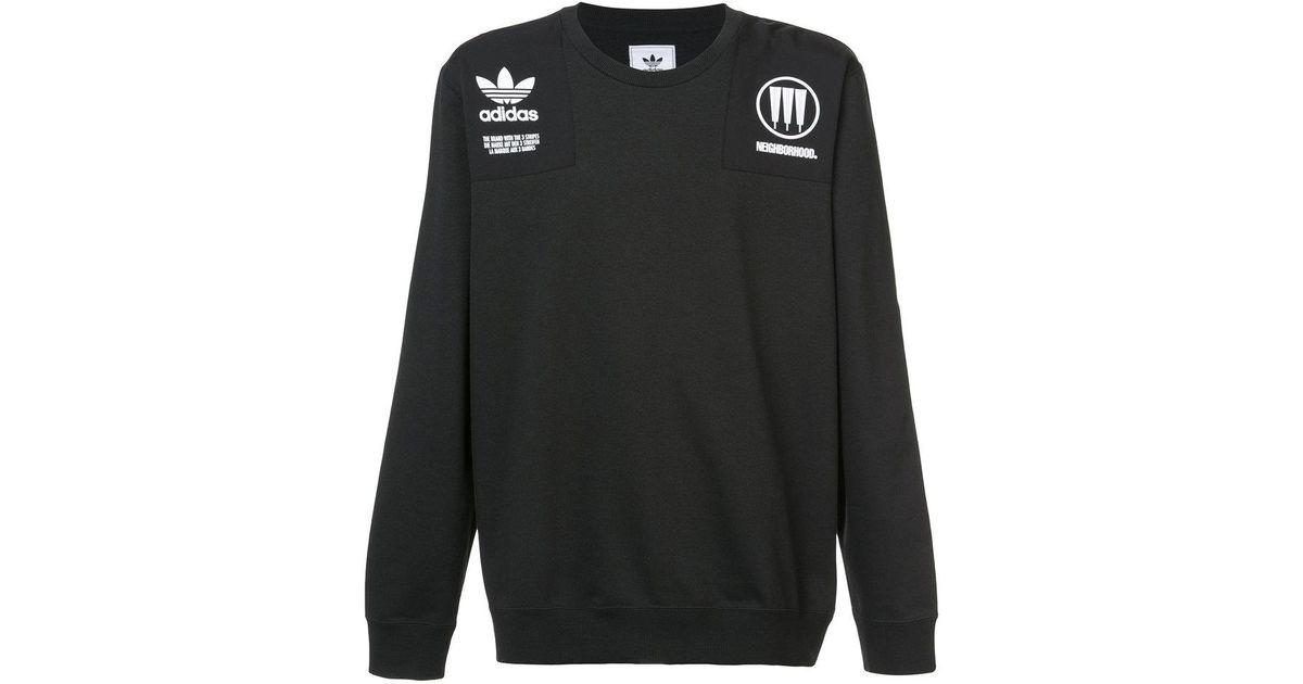 ebaab977 Lyst - adidas Neighbourhood Commander Sweatshirt in Black for Men