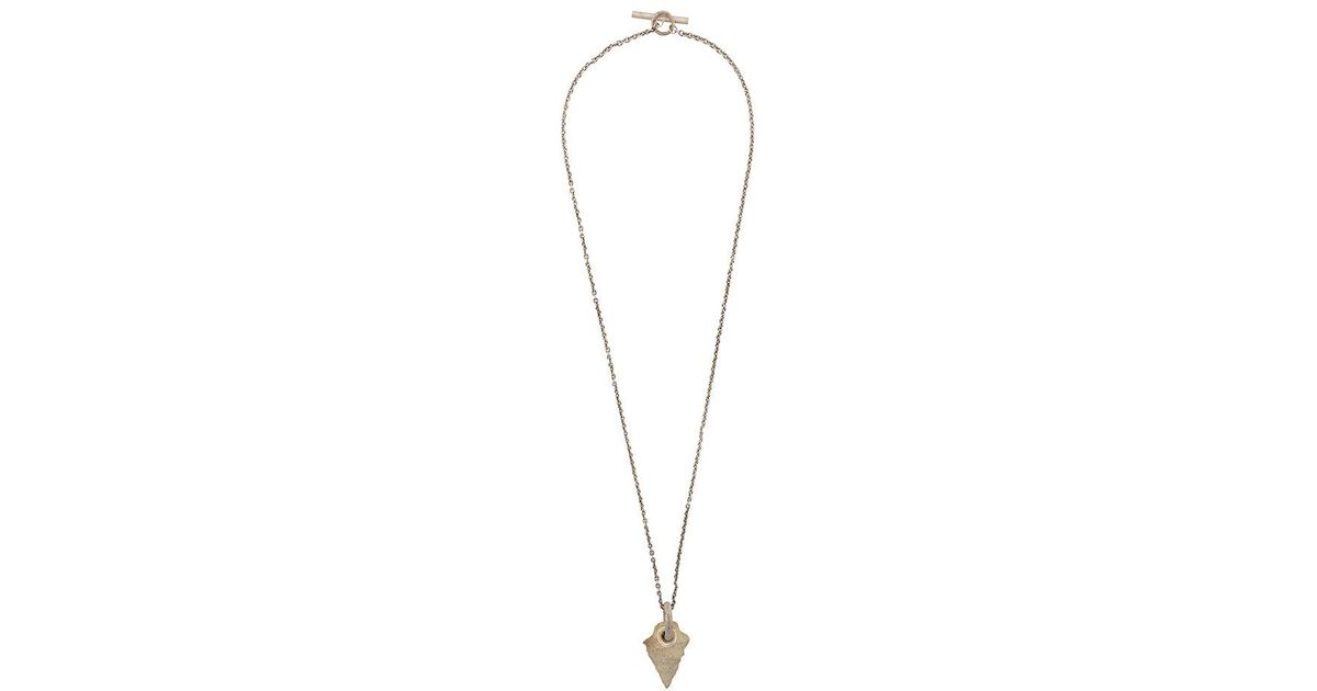 Lyst - Parts Of 4 Arrowhead Pierced Amulet Necklace in Metallic