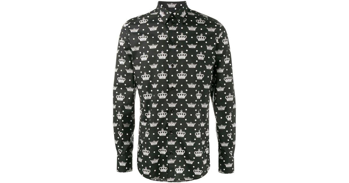 227f7a42a20f Lyst - Chemise imprimée Dolce   Gabbana pour homme en coloris Noir