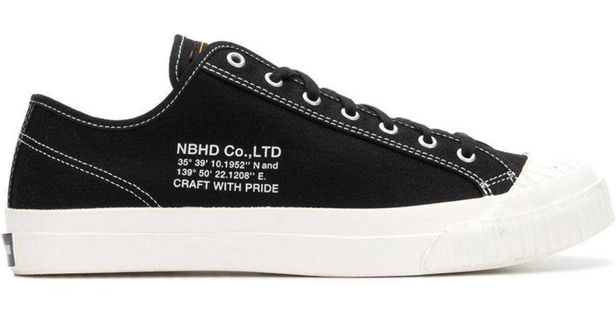 contrast stitch sneakers - Black Neighborhood FOnTYgLKi