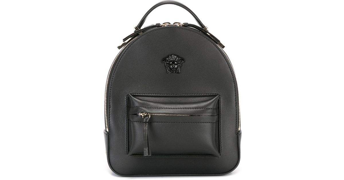 b936906578 Versace Mini Medusa Palazzo Backpack in Black - Lyst