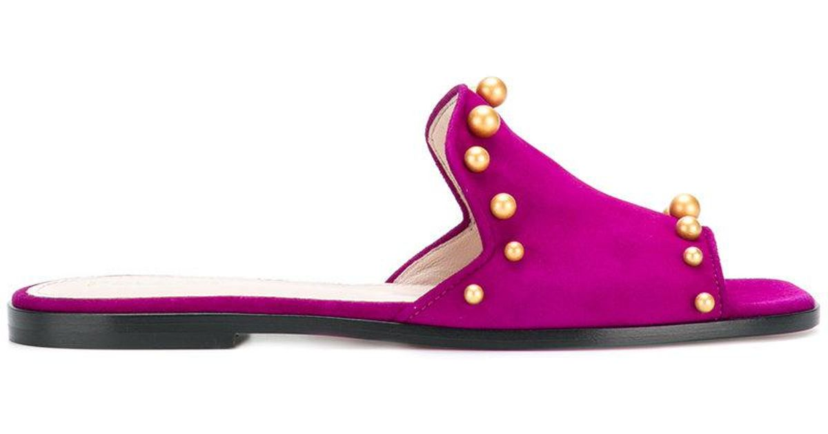 Perles Pollini Pantoufles Embelli - Rose Et Violet 0Kv6jeQvpo