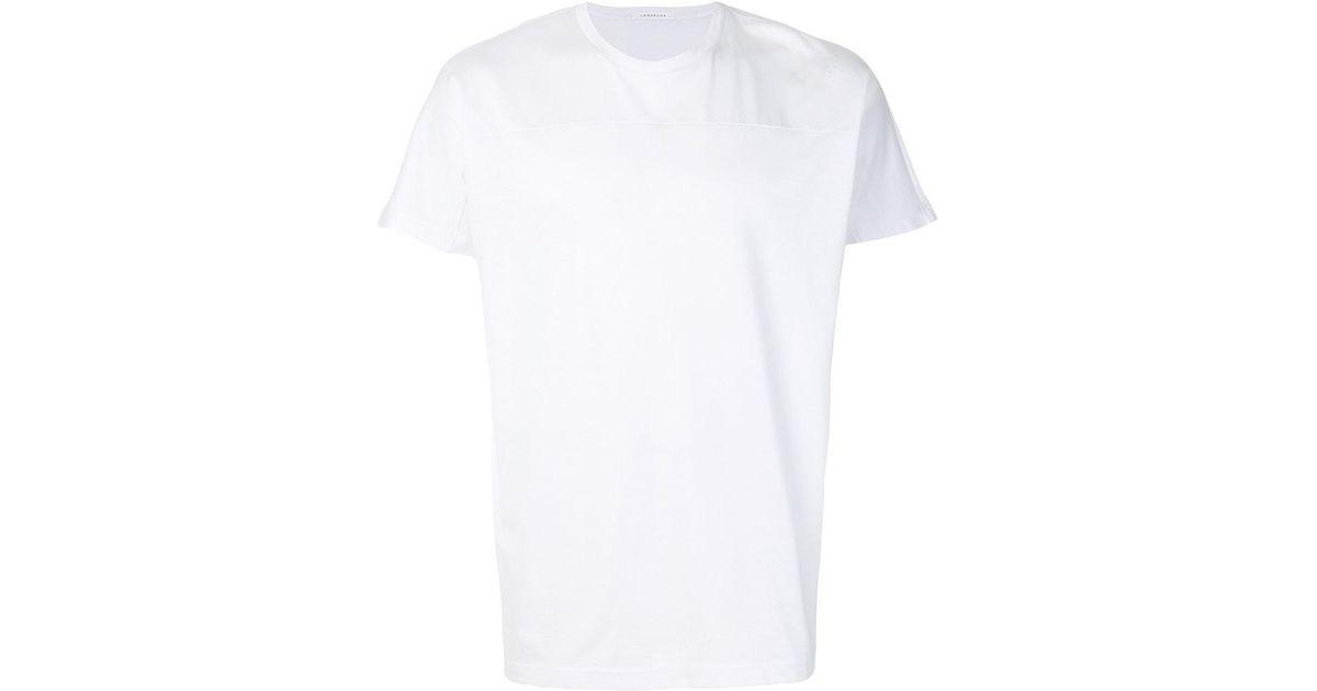 Lyst low brand plain t shirt in white for men for Plain t shirt brands