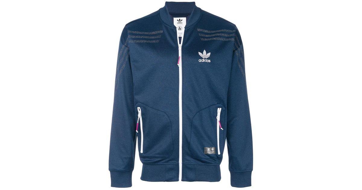 Lyst adidas ua & sons di canzone, giacca blu per gli uomini.