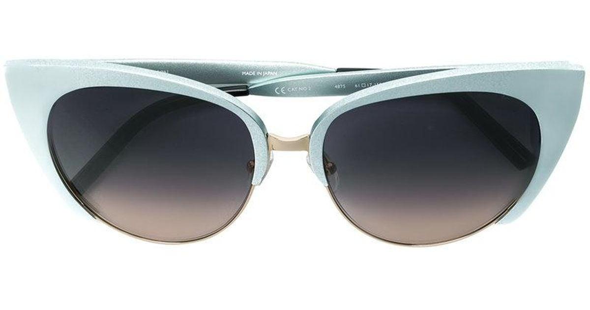 8fceab2bdf22 Matthew Williamson X Linda Farrow Cat-eye Sunglasses in Blue - Lyst