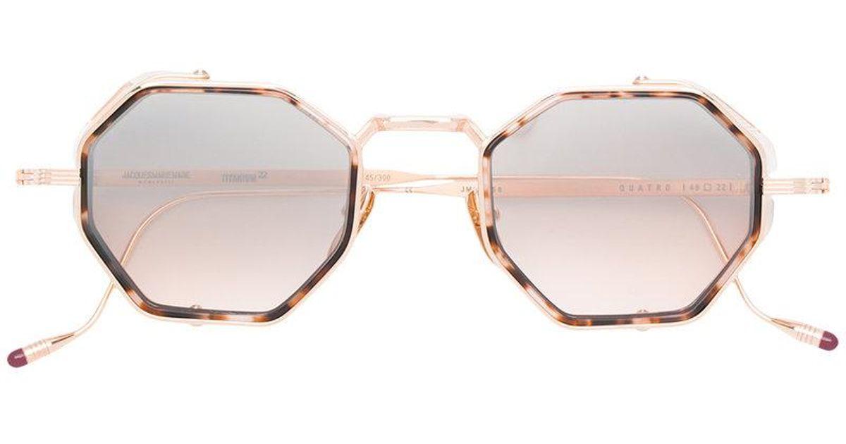 74543f299fe Jacques Marie Mage Quatro Sunglasses in Metallic - Lyst