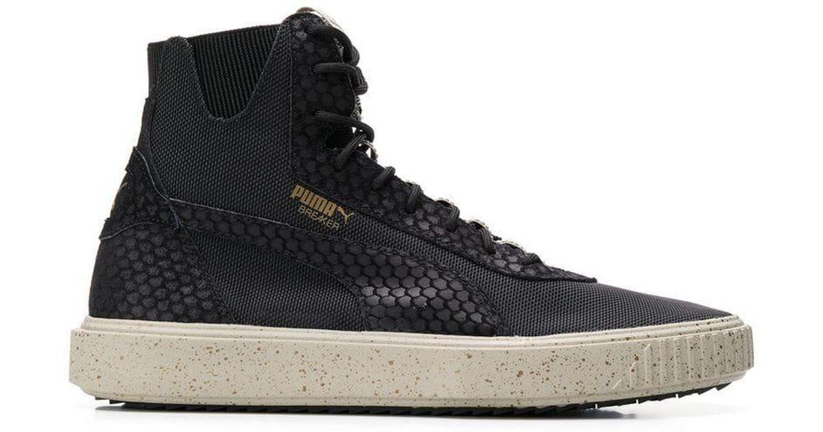 0dd834f0efa Lyst - PUMA Evolution Breaker Hi Blocked Sneakers in Black for Men
