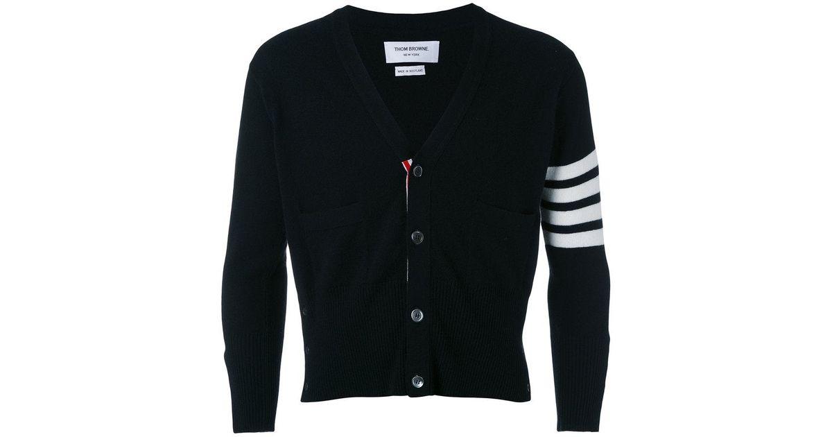 Thom Browne four stripe sleeve cardigan - Black Sale Wholesale Price OdSE1UpqOD