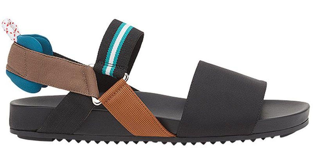 Colibri In Fendi Lyst Black Sandals yvn80wPmNO
