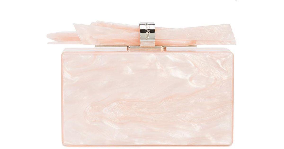 Wolf pearl effect clutch bag - Pink & Purple Edie Parker CXaeaVIQ
