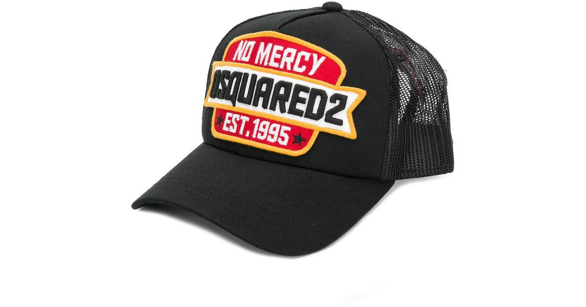 1b53beda56d Lyst - DSquared² No Mercy Patch Baseball Cap in Black for Men