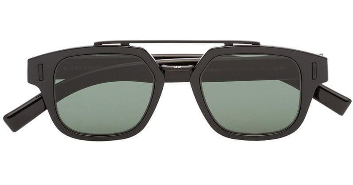 8f2ce85a3ad18 Dior Black And Green Fraction 1 Double-bridge Sunglasses in Black for Men -  Lyst
