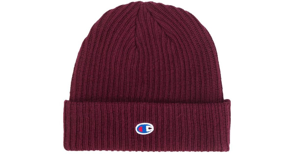 Lyst - Champion Ribbed Beanie in Red for Men 9ec3038752e