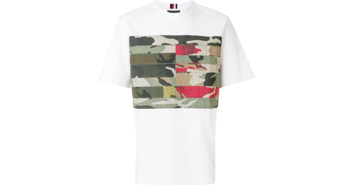 b5f11f655 Lyst - Tommy Hilfiger Camo Panel T-shirt in White for Men