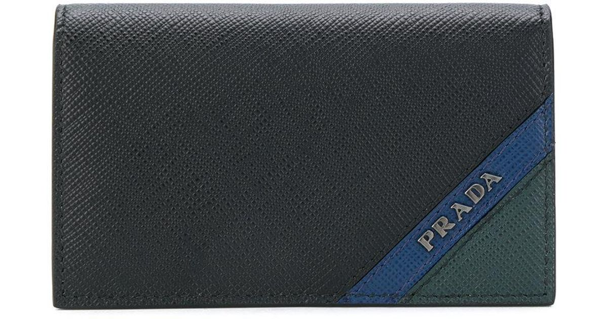 Prada Colour-block logo wallet cRgKNS53r