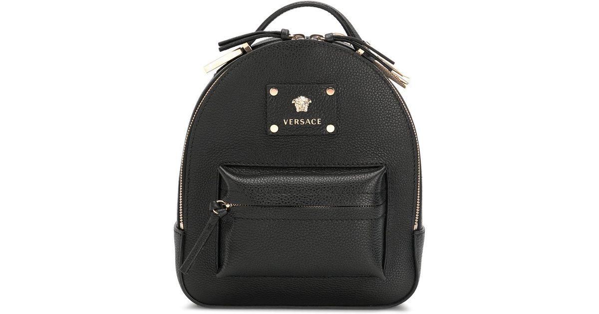 24dea36c6c Versace Medusa Palazzo Backpack in Black - Lyst