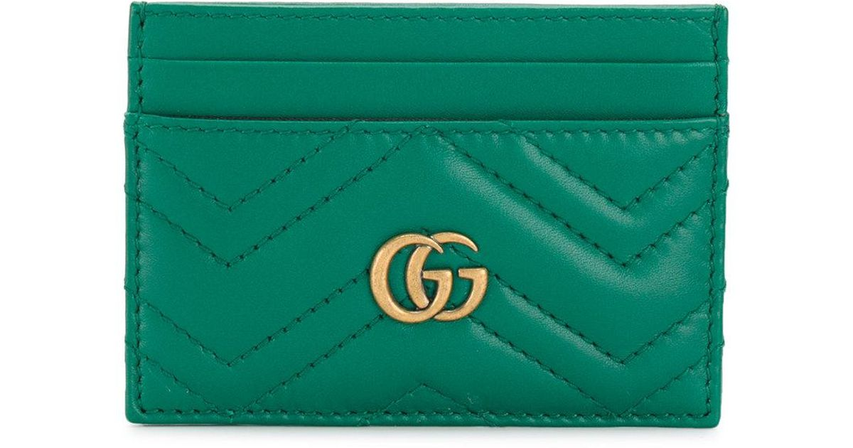 425a4eac7cf514 Gucci Gg Marmont Card Holder in Green - Lyst
