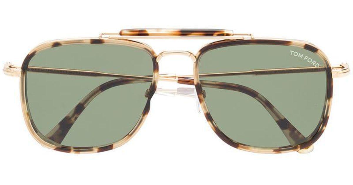 41eb220fad Lyst - Gafas de sol Huck Tom Ford de hombre de color Marrón