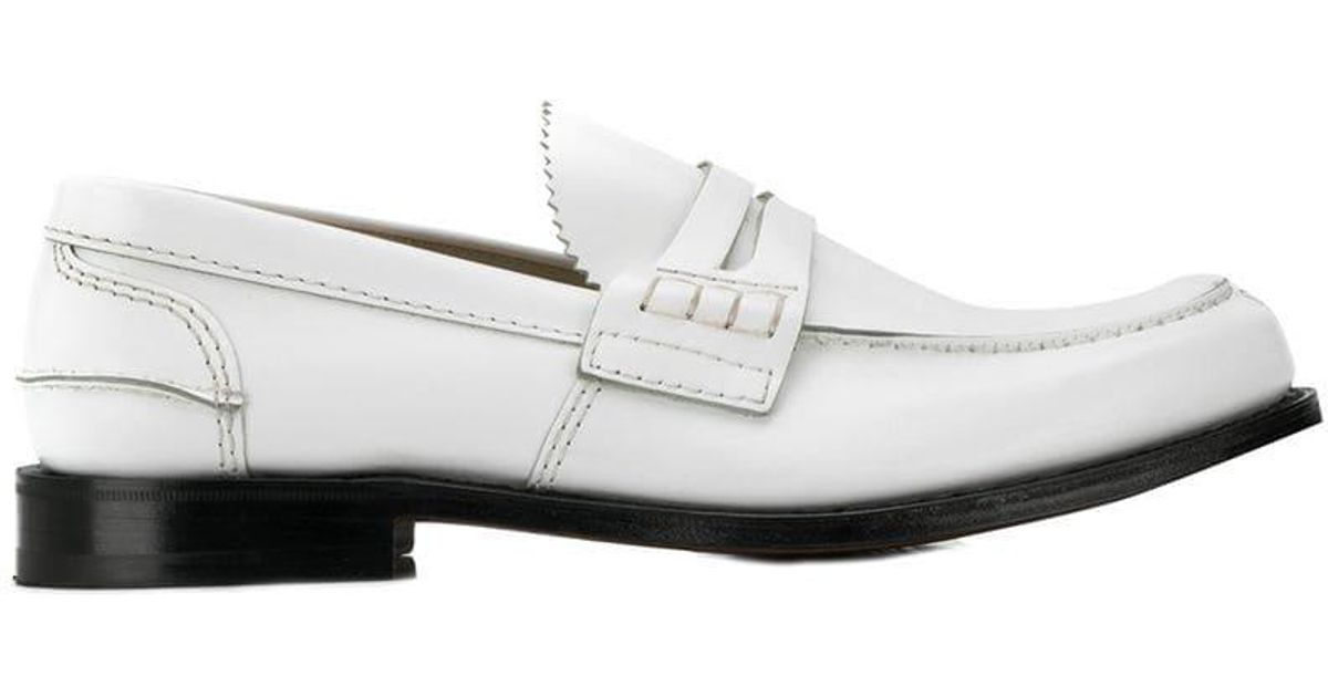 Church s jagged Tongue Loafers in White for Men - Lyst 6ce20b8e949