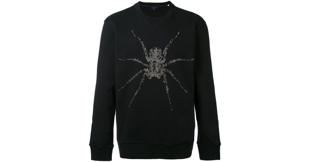 Spider Black fit Slim Saint Sweater Wool intarsia Laurent aqR55wxZ