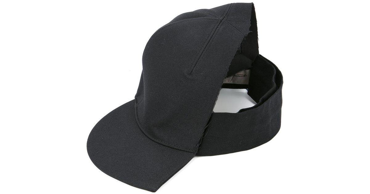 Lyst - Yohji Yamamoto Half Cap in Black de6dfbd6569
