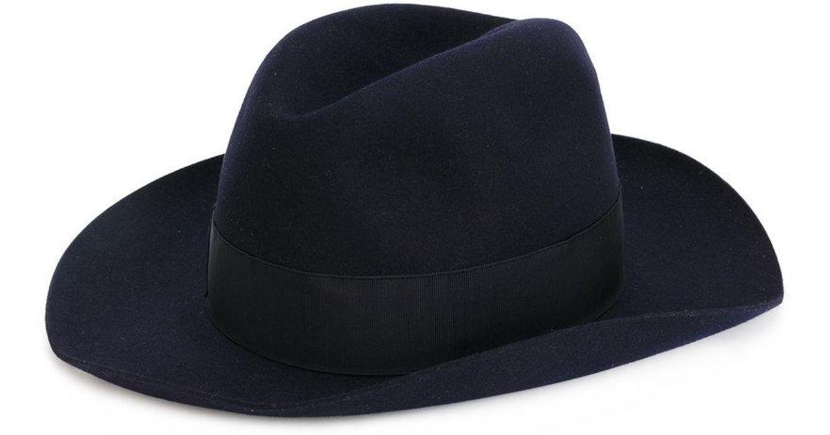 Borsalino Classic Cowboy Hat in Blue for Men - Lyst 393d62368b56