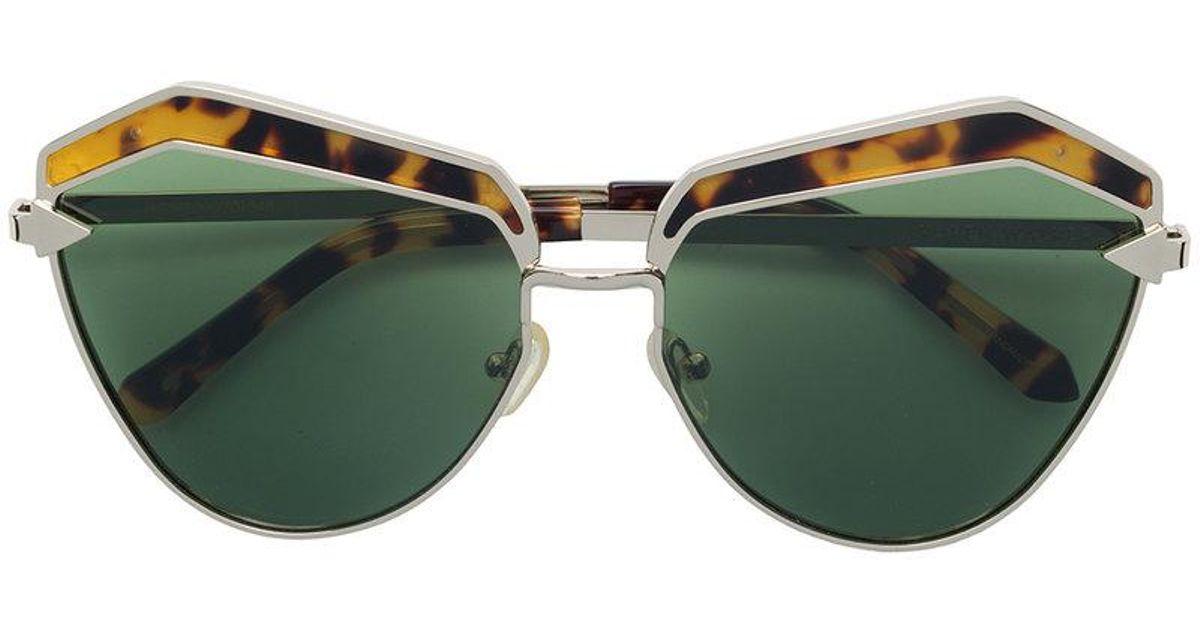 ce4aaa536543 Karen Walker Jacinto Sunglasses in Metallic - Lyst