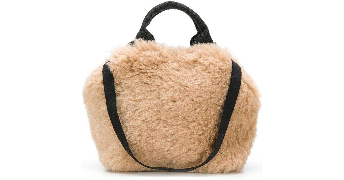 84b487d8d708 Muuñ Mini Ice Bear Handbag With Faux Fur - Save 27.350427350427353% - Lyst